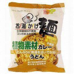 【創健社】お湯かけ麺 植物素材カレーうどん 81g