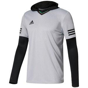 TANGOCAGEレイヤリングシャツクリアオニキス×ブラック【adidas|アディダス】サッカーフットサルウェアーbun66-b47657