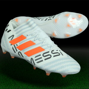 ネメシスメッシ17.1FG/AGランニングホワイト×ソーラーオレンジ【adidas|アディダス】サッカースパイクby2405