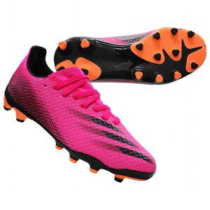 ジュニアエックスゴースト.3HG/AGJショックピンク×コアブラック【adidas アディダス】サッカージュニアスパイクfy1093