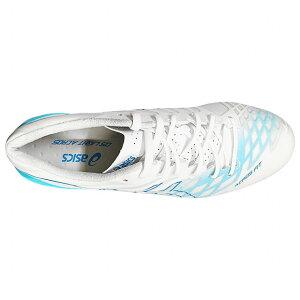 DSライトACROSホワイト×アクアリウム【asics アシックス】サッカースパイク1101a017-101