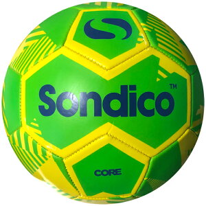 コアXTフットボールイエロー×グリーン【Sondico|ソンディコ】サッカーボール4号球19-822007-16-4