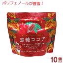 黒糖ココア 180g×10個セット(海邦商事)【送料無料】|黒糖 ココア|