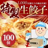 【送料込み】業務用の特製生餃子100個(定期購入)
