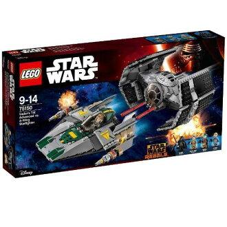 Lego星球大戰打·beida的TIE廣告卡車罷工vs A翅膀·明星戰士75150 LEGO星球大戰智育玩具