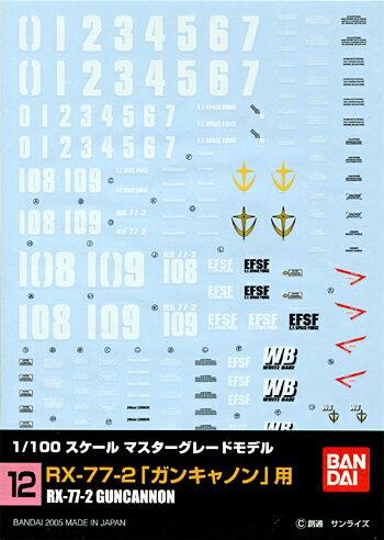 gundam 00 toys GD12 MG 1100 RX-77-2 ()