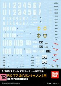 【メール便発送可】ガンダムデカール GD12 MG 1/100 RX-77-2 ガンキャノン (機動戦士ガンダム)用【新品】 ガンプラ シール ステッカー