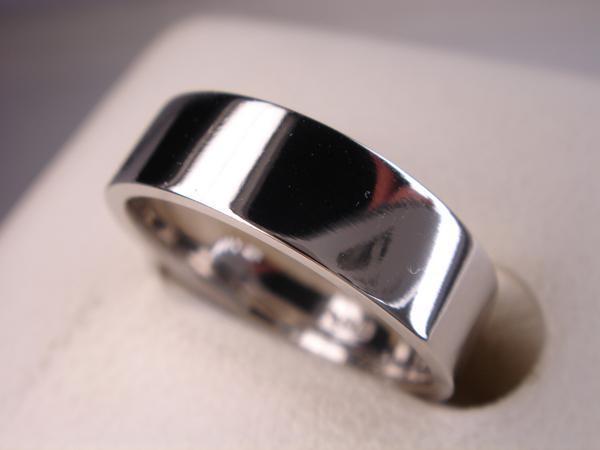 オリジナル★プラチナ結婚指輪★平打マリッジ M★