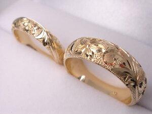 送料無料★2本セット★18金結婚指輪★ハワイアンマリッジセット★プリンセス★