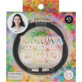 RAKUWA ラクワ磁気チタンネックレス メタルブラック 45cm