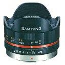【即配】 (KT) SAMYANG サムヤン 7.5mm/F3.5 FISH-EYE マイクロフォーサーズ用 ブラック【送料無料】【あす楽対応】