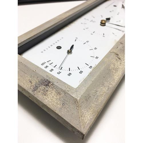 温湿度計付きAntiqueClock置き掛け兼用ヨコホワイトYT-900