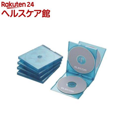 エレコム BLu-ray/DVD/CDケース 標準/PS/4枚収納 CCD-JSCNQ5CBU(5枚入)【エレコム(ELECOM)】