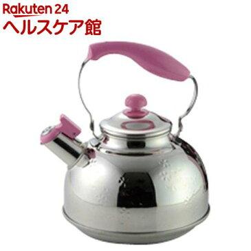 ステンレス笛吹きケトル 桜 2.5L IH対応・日本製 SJ1902(1コ入)