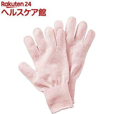 シルク混おやすみ手袋 ピンク(1双組)