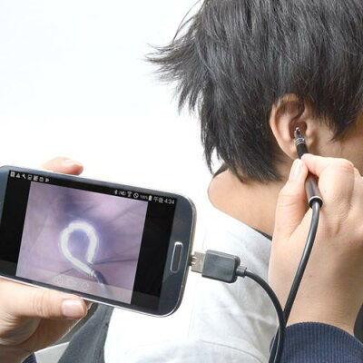 サンコー カメラで見ながら耳掃除爽快USBイヤースコープ USBEARCM(1コ入) 画像1