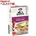 クエーカー オートミール レーズン&スパイス(43g*10袋入)【クエーカー】