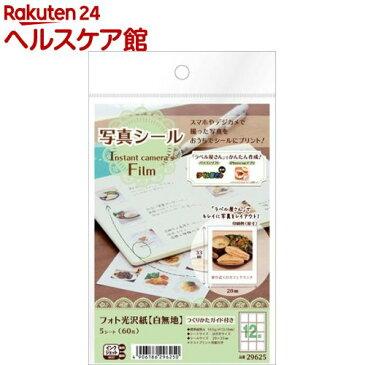 エーワン 写真シール Instant camera's FiLm 29625(5シート)