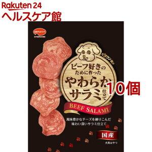ビタワン君のビーフ好きのために作ったやわらかサラミ仕立て(70g*10コセット)【ビタワン】