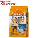 AllWell 10歳以上の腎臓の健康維持用 フィッシュ味 挽き小魚とささみフリーズドライパウダー入り 750g(375gx2袋)