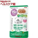 ケンコーコムで買える「ミャウミャウ ジューシー 15歳頃からのおさかなミックス(70g【ミャウミャウ(Miaw Miaw】」の画像です。価格は60円になります。