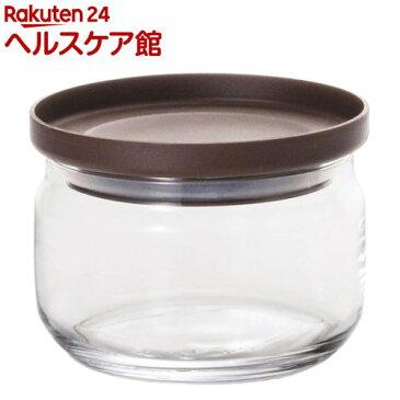 ガラス保存容器 スタックキャニスターS チョコ M-6243(1コ入)