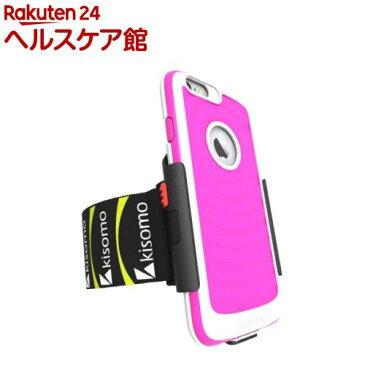キソモ iPhone6 PLus ケース一体型アームベルト エナジア ピーチ KS5345i6P(1コ入)【キソモ】