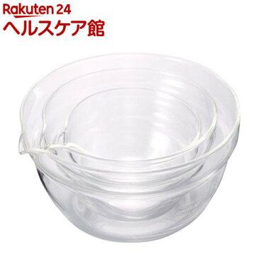ハリオ 耐熱ガラス製 片口ボール KB-1318(3コ入)【ハリオ】【送料無料】