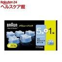 ブラウン クリーン&リニューシステム専用 洗浄液 カートリッジ CCR5CR+1(6個入)【ブラウン(Braun)】[アルコール除菌洗浄]