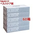 スコッティティシュー(400枚(200組)*5箱パック*12コセット)【スコッティ(SCOTTIE)】[ティッシュ]