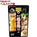 ミツカン 〆まで美味しい 濃厚鶏白湯鍋つゆ ストレート(750g)【ミツカン】