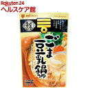 ミツカン 〆まで美味しいごま豆乳鍋つゆ ストレート(750g)【ミツ……