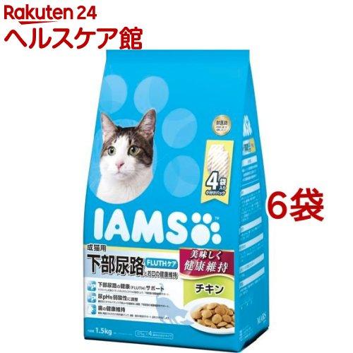 アイムス 成猫用 下部尿路とお口の健康維持 チキン(1.5kg*6コセット)【アイムス】