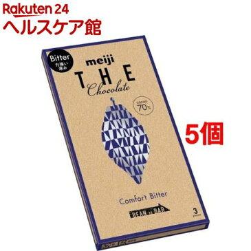 明治 ザ・チョコレート 力強い深み コンフォートビター(3枚入*5コセット)