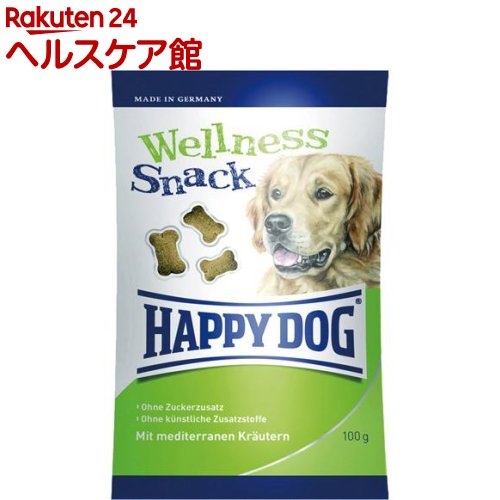 ハッピードッグ ウェルネス スナック オメガ3・6配合 全犬種 オールステージ(100g)【ハッピードッグ】