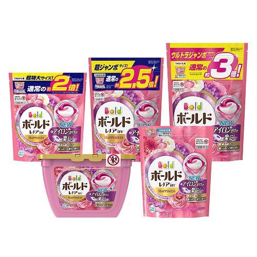 ボールド 洗濯洗剤 ジェルボール3D 癒しのプレミアムブロッサムの香り 詰替超ジャン(44コ入*4コセット)【ボールド】