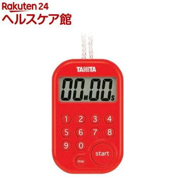 タニタデジタルタイマー100分計レッドTD-379-RD