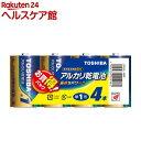 東芝 アルカリ単一形電池 4本パック LR20L 4MP(1...