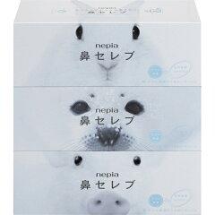 ネピア 鼻セレブティシュ 200組×3個パック/ネピア鼻セレブ/保湿ティッシュ(ローションティッシ...