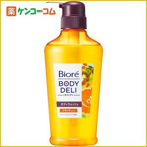 ビオレ ボディデリ 泡立つジューシーリキッド洗浄料 オレンジ&ローズヒップの香り 400ml[ボディシャンプー 花王]