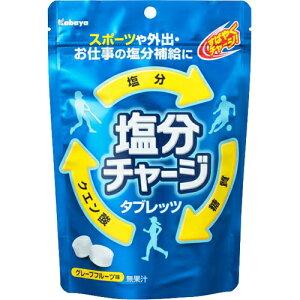 カバヤ 塩分チャージタブレッツ グレープフルーツ味 90g/カバヤ/塩タブレット・塩サプリメント/...