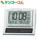 セイコー ハイブリッドソーラー 電波時計(温度・湿度表示付き目ざまし時計) SQ751W【送料無料】