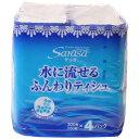 サラサ 水に流せるふんわりティッシュ 150組入×4パック[サラサ(sarasa) ティッシュペーパー ケンコーコム]【あす楽対応】
