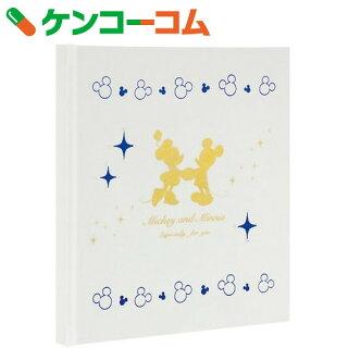 ディズニーギフトアルバムラインストーン付サテンクロス表紙ミッキーミニーホワイトア-DBP-351-W