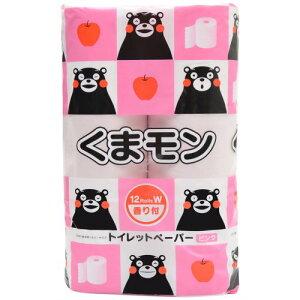 くまモン トイレットペーパー ピンク 香り付 25m×12ロール(ダブル)/くまモン/トイレットペーパ...
