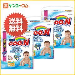 【ケース販売】グーン やわらかフィットパンツ Mサイズ 74枚入×3個(222枚入)/グーン(GOO.N)/パ...