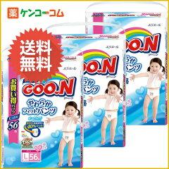 【ケース販売】グーン やわらかフィットパンツ Lサイズ 女の子 58枚入×3個(174枚入)/グーン(GO...
