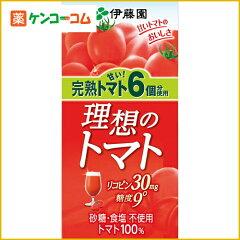 伊藤園 完熟トマト6個分使用 理想のトマト 1000ml×6本[伊藤園 トマトジュース トマト…