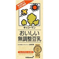 キッコーマン おいしい無調整豆乳 1000ml×6本[紀文 無調整豆乳]