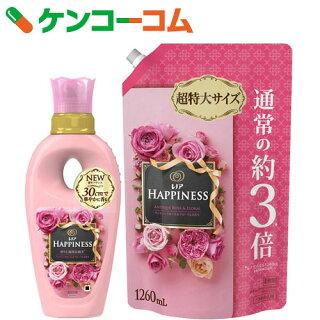 レノアハピネスアンティークローズ&フローラルの香り本体+つめかえ用超特大560ml+1260ml